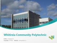 Whitireia Community Polytechnic powerpoint template download | 新西兰维特利亚学院PPT模板下载
