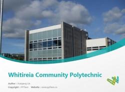 Whitireia Community Polytechnic powerpoint template download | 新西兰维特利亚学院PPT模板下载