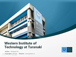 Western Institute of Technology at Taranaki powerpoint template download | 塔拉纳基西部理工学院PPT模板下载