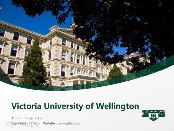 Wellington College of Education powerpoint template download | 惠灵顿维多利亚大学教育学院PPT模板下载_幻灯片预览图1