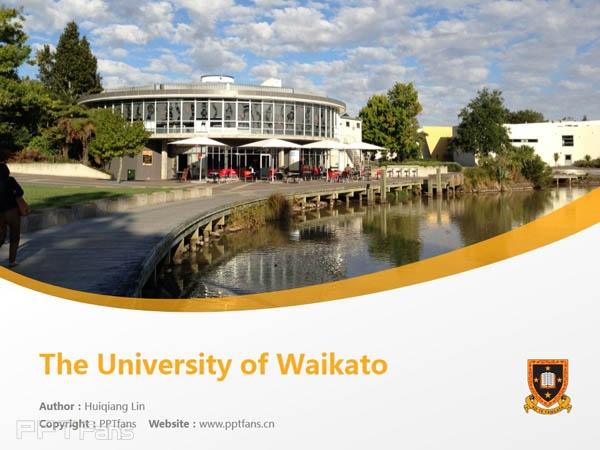 The University of Waikato powerpoint template download | 怀卡托大学PPT模板下载_幻灯片预览图1
