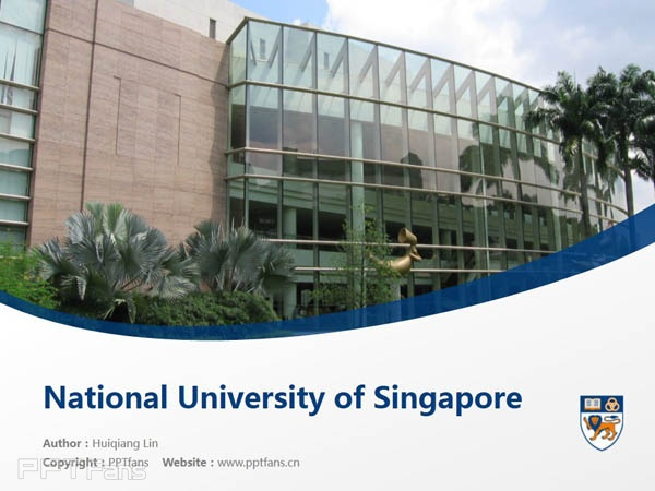 National University of Singapore powerpoint template download | 新加坡国立大学PPT模板下载_幻灯片预览图1