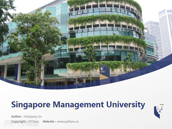 Singapore Management University powerpoint template download | 新加坡管理大学PPT模板下载_幻灯片预览图1