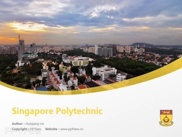 Singapore Polytechnic powerpoint template download | 新加坡理工学院PPT模板下载_幻灯片预览图1