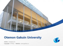 Otemon Gakuin University powerpoint template download | 追手门学院大学PPT模板下载