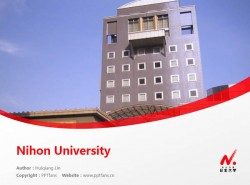 Nihon University powerpoint template download | 日本大学PPT模板下载