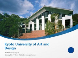 Kyoto University of Art and Design powerpoint template download   京都造形艺术大学PPT模板下载