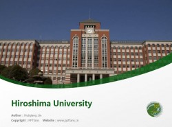 Hiroshima University powerpoint template download | 广岛大学PPT模板下载
