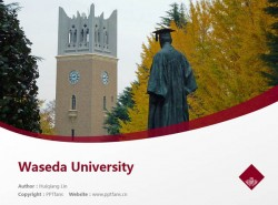 Waseda University powerpoint template download | 早稻田大学PPT模板下载