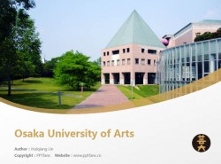 Osaka University of Arts powerpoint template download | 大阪艺术大学PPT模板下载