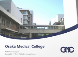 Osaka Medical College powerpoint template download | 大阪医科大学PPT模板下载