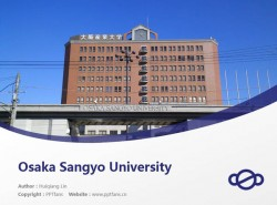 Osaka Sangyo University powerpoint template download | 大阪产业大学PPT模板下载