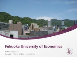 Fukuoka University of Economics powerpoint template download | 日本经济大学PPT模板下载