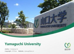 Yamaguchi University powerpoint template download | 山口大学PPT模板下载