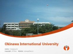 Okinawa International University powerpoint template download | 冲绳国际大学PPT模板下载