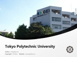 Tokyo Polytechnic University powerpoint template download | 东京工艺大学PPT模板下载