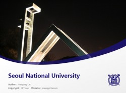 Seoul National University powerpoint template download | 首尔大学PPT模板下载