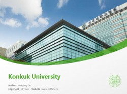 Konkuk University powerpoint template download | 建国大学PPT模板下载