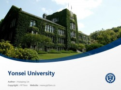Yonsei University powerpoint template download | 延世大学PPT模板下载