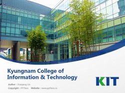 Kyungnam College of Information & Technology powerpoint template download | 庆南情报大学PPT模板下载