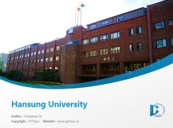Hansung University powerpoint template download | 汉城大学PPT模板下载