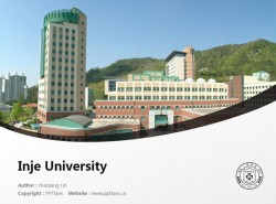 Inje University powerpoint template download | 仁济大学PPT模板下载