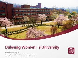 Duksung Women's University powerpoint template download | 德成女子大学PPT模板下载