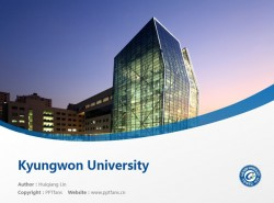 Kyungwon University powerpoint template download | 暻园大学PPT模板下载
