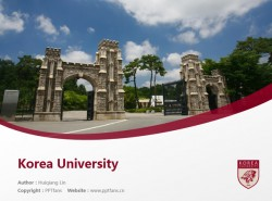 Korea University powerpoint template download | 高丽大学PPT模板下载