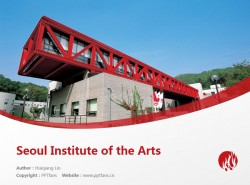 Seoul Institute of the Arts powerpoint template download | 首尔艺术大学PPT模板下载