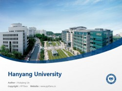 Hanyang University powerpoint template download | 汉阳大学PPT模板下载