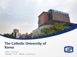 The Catholic University of Korea powerpoint template download | 韩国加图立大学PPT模板下载