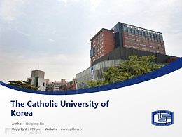 The Catholic University of Korea powerpoint template download | 韓國加圖立大學PPT模板下載
