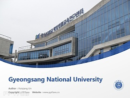 Gyeongsang National University powerpoint template download | 慶尚大學PPT模板下載