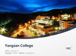 Yangsan College powerpoint template download | 梁山大学PPT模板下载