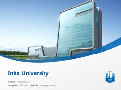 Inha University powerpoint template download | 仁荷大学PPT模板下载