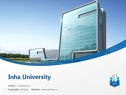 Inha University powerpoint template download | 仁荷大學PPT模板下載