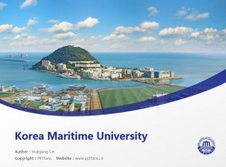 Korea Maritime University powerpoint template download | 韩国海洋大学PPT模板下载