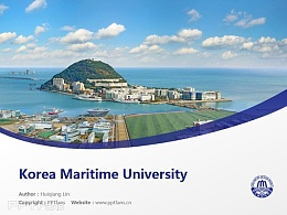 Korea Maritime University powerpoint template download | 韓國海洋大學PPT模板下載