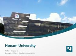 Honam University powerpoint template download | 湖南大学PPT模板下载
