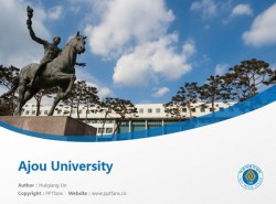 Ajou University powerpoint template download | 亚洲大学PPT模板下载