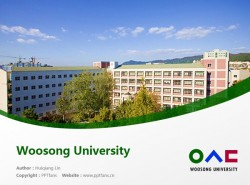 Woosong University powerpoint template download | 又松大学PPT模板下载
