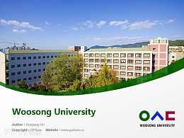 Woosong University powerpoint template download | 又松大學PPT模板下載