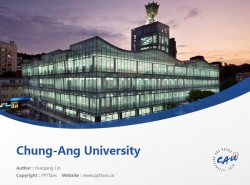 Chung-Ang University powerpoint template download   中央大学PPT模板下载