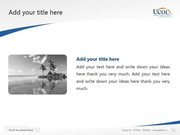Universal College of Learning powerpoint template download | 环球理工学院PPT模板下载_幻灯片预览图4