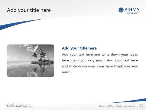Pacific International Hotel Management School powerpoint template download | 太平洋国际酒店管理学院PPT模板下载_幻灯片预览图4