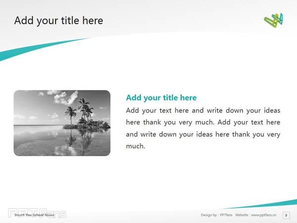 Whitireia Community Polytechnic powerpoint template download   新西兰维特利亚学院PPT模板下载_幻灯片预览图4