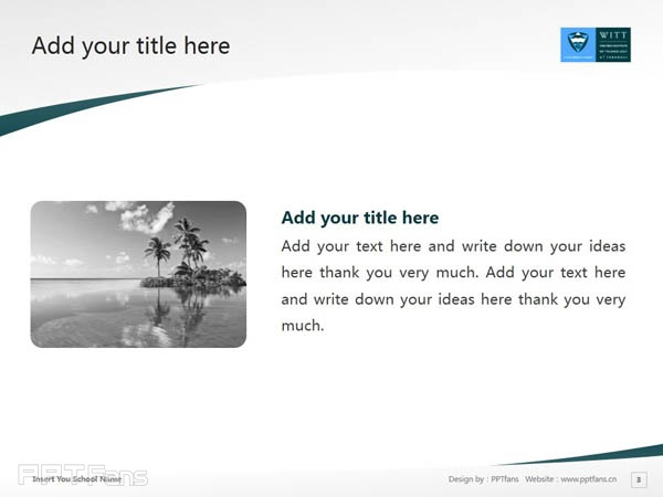 Western Institute of Technology at Taranaki powerpoint template download | 塔拉纳基西部理工学院PPT模板下载_幻灯片预览图4