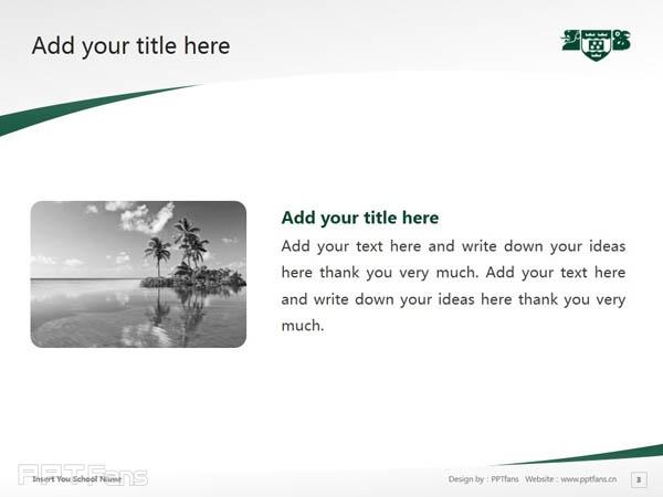 Wellington College of Education powerpoint template download | 惠灵顿维多利亚大学教育学院PPT模板下载_幻灯片预览图4