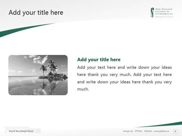 New Zealand College of Chiropractic powerpoint template download | 新西兰脊椎神经学院PPT模板下载_幻灯片预览图4